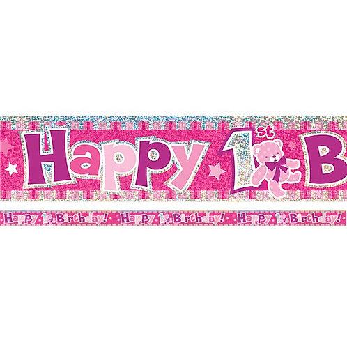 Banner Happy Birthday kleiner Star