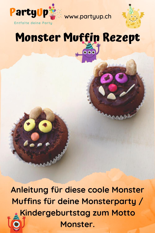 Anleitung Monster Muffin für die Monsterparty zum Kindergeburtstag mit dem Motto Monster oder für den Grüffelo Geburtstag, Geburtstagsznüni, Znüni für den Geburtstag für die Schule, Kita oder Kindergarten