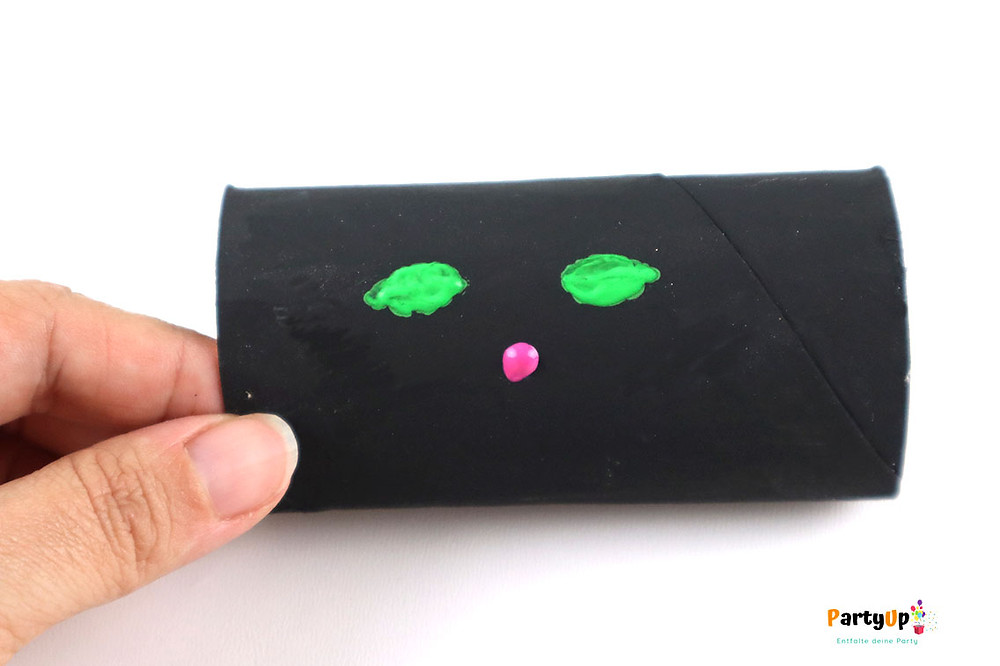 Eine Katze: Verpackung für Gastgeschenk / Mitbringsel für Halloween / Gruselparty