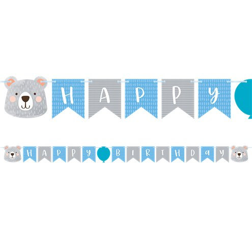 Happy Birthday Girlande kleiner Bär