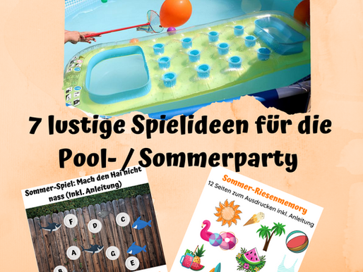 5 + 2 Pool Party / Sommerparty Spiele für Kinder