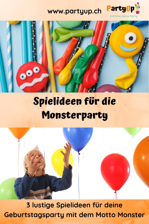 Spielideen für die Monsterparty / die Kinderparty / Geburtstag mit dem Motto Monster