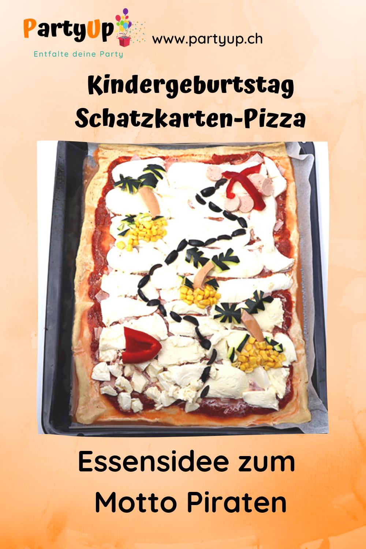 Schatzkarten Pizza - herzhafte Idee zum Motto Piraten Kindergeburtstag