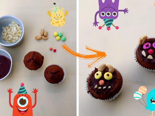 Monster Muffin Rezept für die Monsterparty