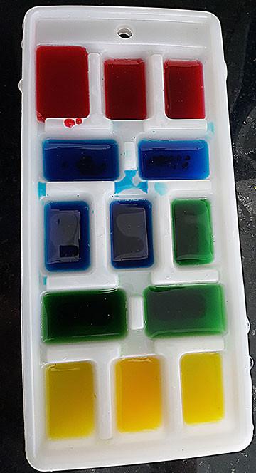 Farbige Eiswürfel