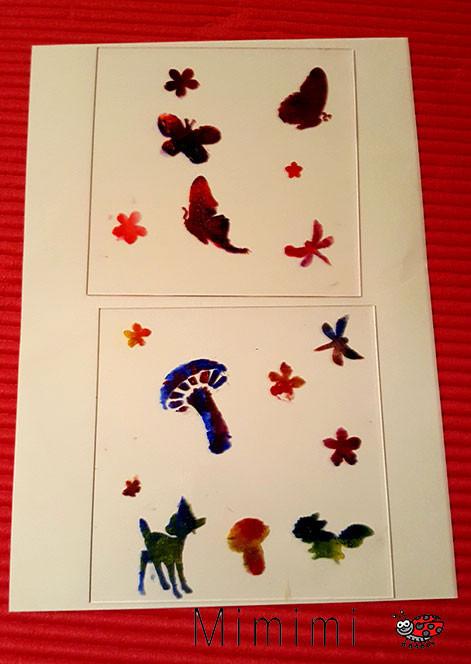 Geschenkidee: Bemalte Acrylglas Schalen als Geschenke für Oma, Tante, Gotte