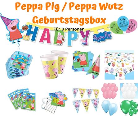 Peppa Pig Geburtstagsbox für 8 Personen