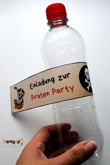 Anleitung Flaschenpost Einladungen zum Piraten Kindergeburtstag
