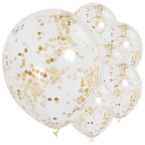 Konfetti Luftballon gold