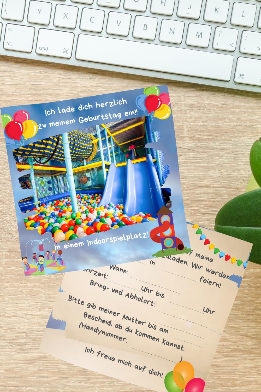 Einladungskarten Indoorspielplatz