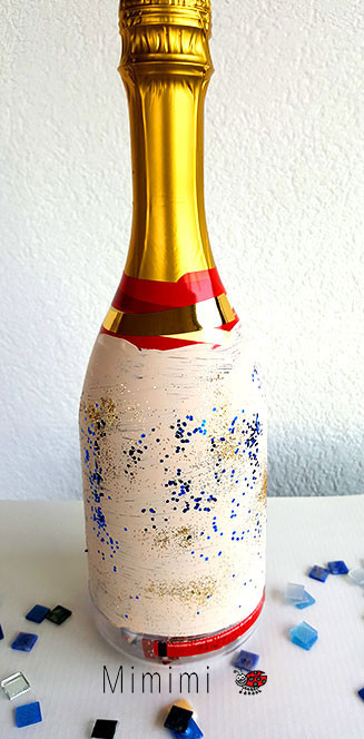Geschenk basteln - Plastikflasche mit Glitzer