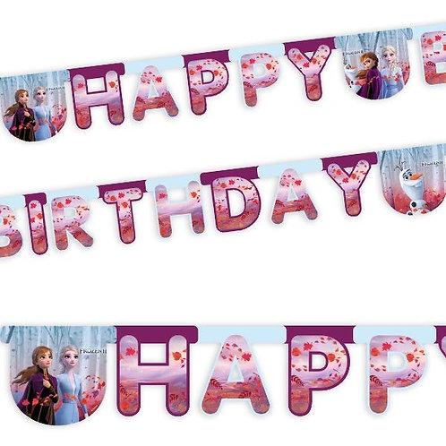 Girlande Happy Birthday Frozen / Eiskönigin 2