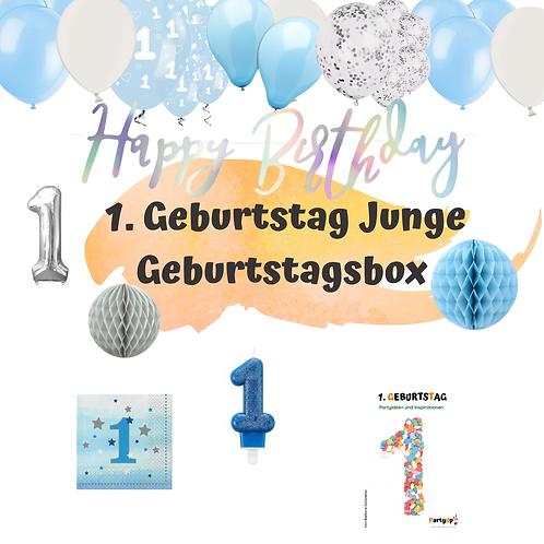 Geburtstagsbox 1. Geburtstag kleiner Star Family Edition