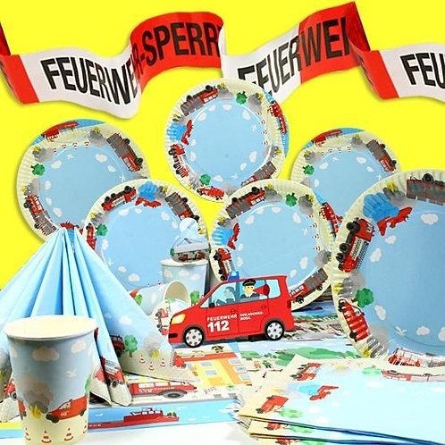 Geburtstagsbox Feuerwehr für 6 Personen