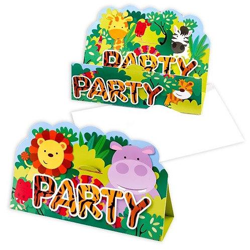 Einladungskarten Dschungel / Wilde Tiere