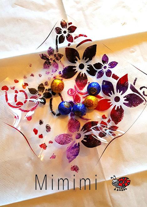 Geschenkidee: Geschenke basteln mit Kindern - Acrylglas Schalen