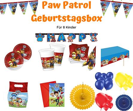Paw Patrol Geburtstagsbox für 8 Personen