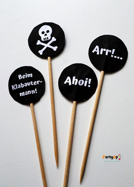 Piraten Cupcake Toppers