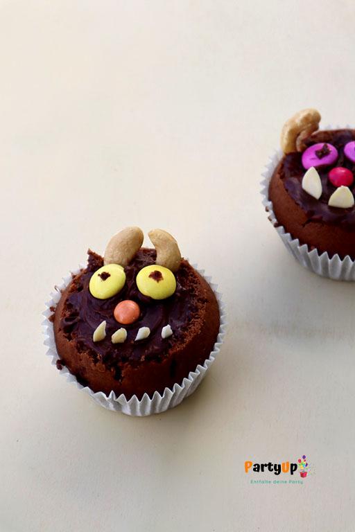 Grüffelo Muffins für den Grüffelo Kindergeburtstag. Anleitung zur Erstellung der Muffins. Auch für den Geburtstag in der Schule, Kita oder Kindergarten geeignet. Oder für die Schweizer Leser: Geburtstagsznüni, Znüni für den Geburtstag