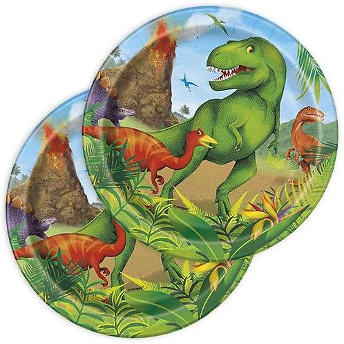 Gefährliche Dinos Teller