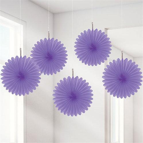 Papierfächer lila 15cm