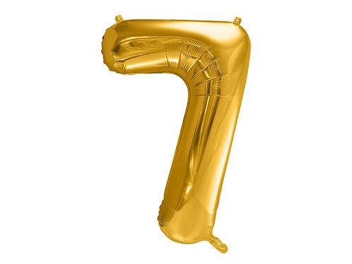 XL Folienballon Zahl 7 gold 86cm