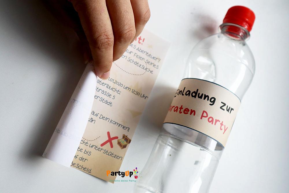 Anleitung Flaschenpost Einladungen zum Kindergeburtstag