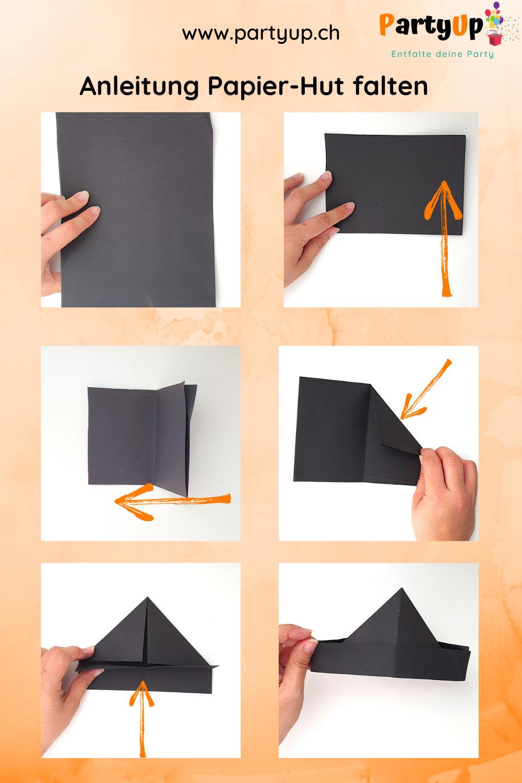 Anleitung Papierhut falten für den Kindergeburtstag zum Motto Piraten