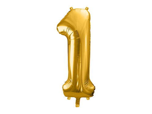 XL Folienballon Zahl 1 gold 86cm