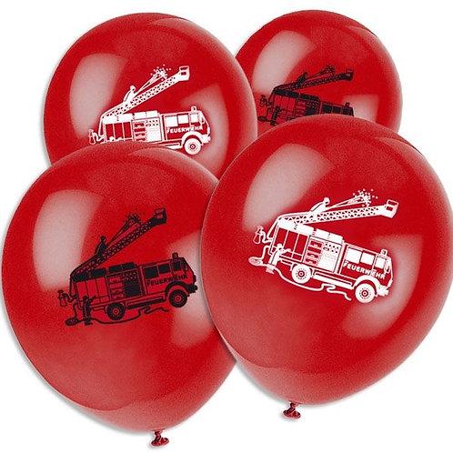 Latexballon mit Feuerwehr Motiv