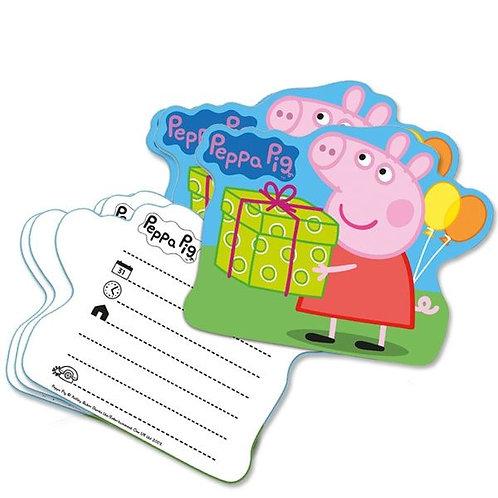 Einladungskarten Peppa Pig (Wutz)