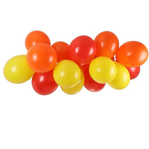 Ballongirlande gelb, orange und rot