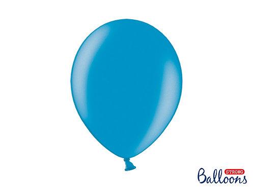 Luftballon metallic karibisches blau