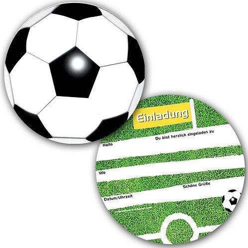 Einladungen in Fussballform