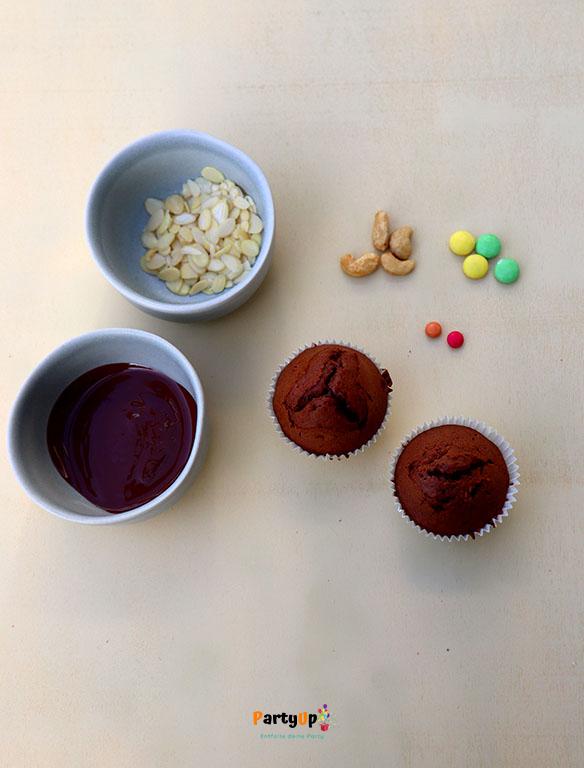 Zutaten Muffin für die Monsterparty zum Kindergeburtstag mit dem Motto Monster