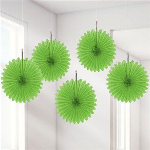 Papierfächer grün 15cm