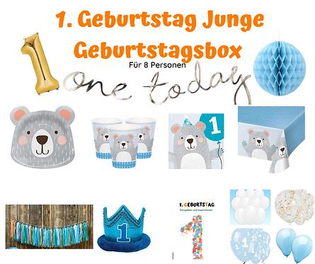 1. Geburtstag one today Geburtstagsbox für 8 Personen