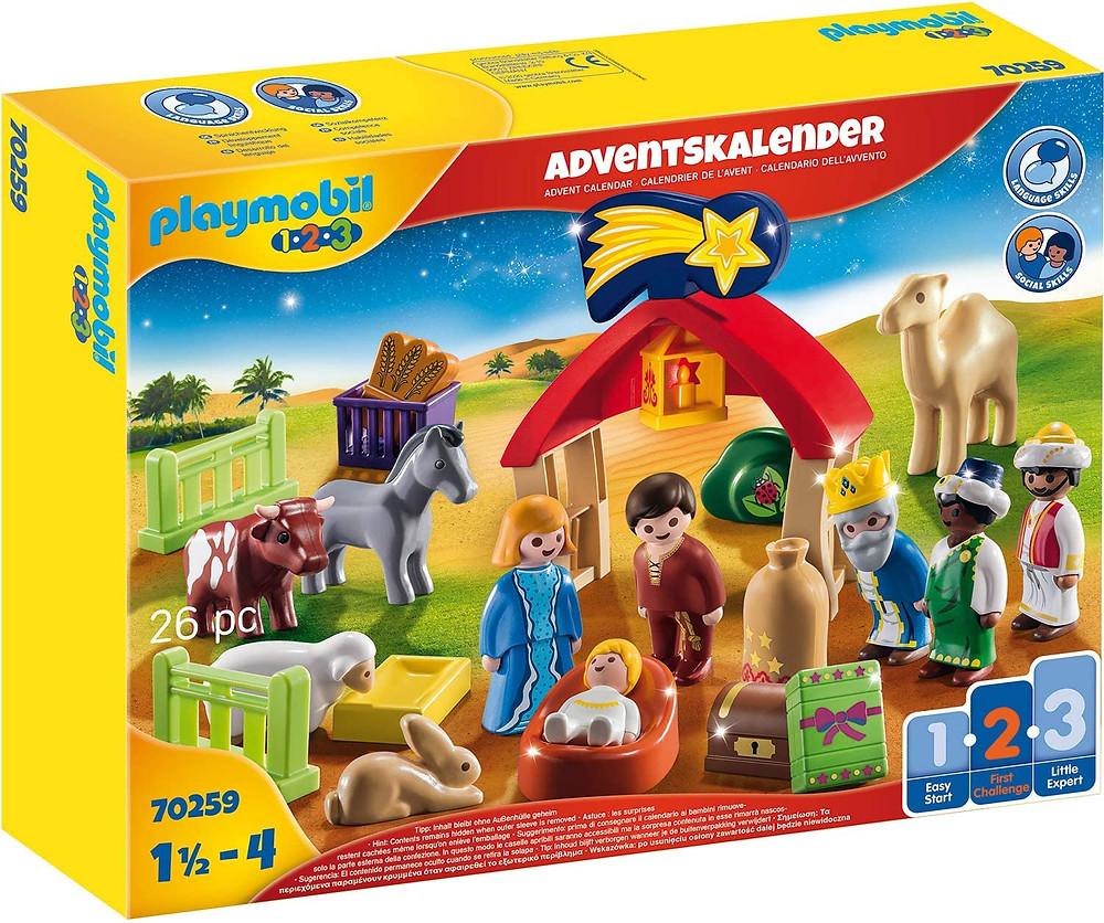Playmobil 123 Adventskalender 2020 Weihnachtskrippe für Kleinkinder