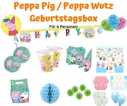 Peppa Pig Geburtstagsbox für 6 Personen