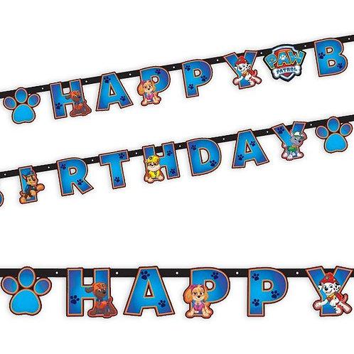 Girlande Paw Patrol Happy Birthday