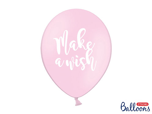 Luftballon make a wish rosa