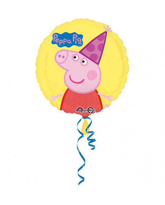 Runder Folienballon Peppa Pig / Peppa Wutz