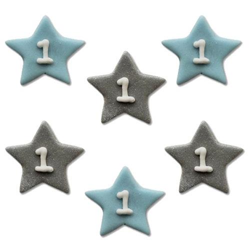 Zuckerdeko für Kuchen mit Sternen Motiv