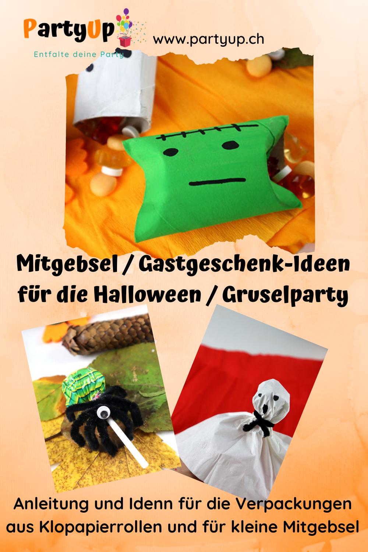 Anleitung für die Verpackung und die Gastgeschenke bzw. Mitgebsel für deine Halloween oder Gruselparty