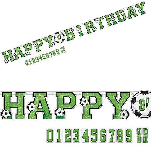 Fussball Girlande Happy Birthday