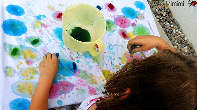 Malen mit Eis