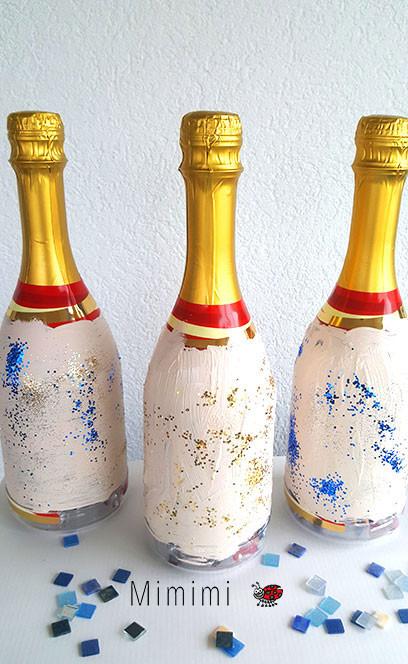 Geschenk - DIY Flaschen mit Glitzer
