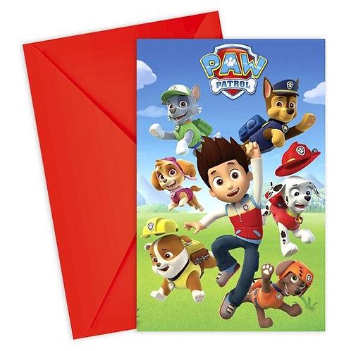 Einladungskarten Paw Patrol
