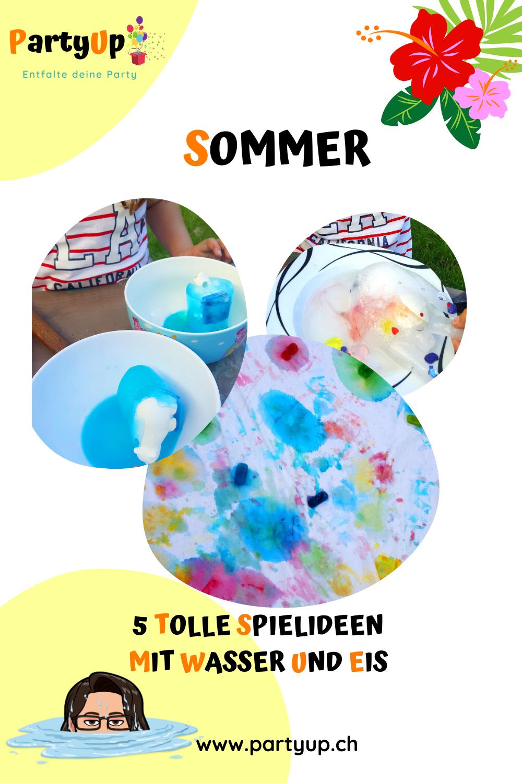 Sommer Spielideen mit Wasser und Eis für Kinder für draussen