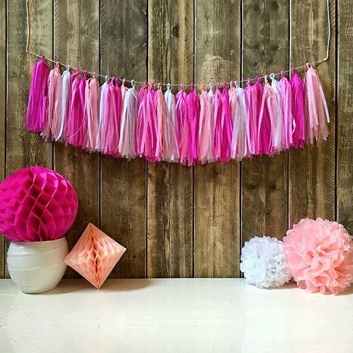 Tassel Girlande in rosatönen